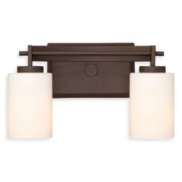 Quoizel Taylor 2-Light Vanity Light in Western Bronze