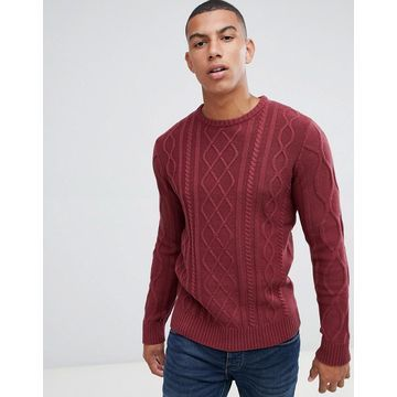 Another Influence Cable Knit Sweater
