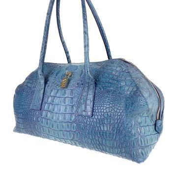 Furla Blue Leather Handbags