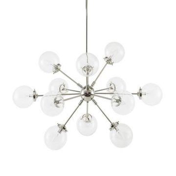 INK+IVY Paige 12-Light Chandelier in Silver