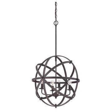 Savoy House Dias 4-Light Orb Pendant in English Bronze