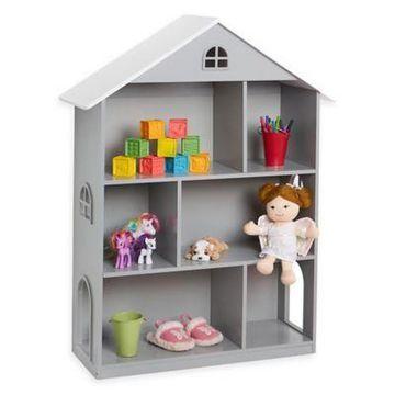 Wildkin Dollhouse Bookcase in Grey