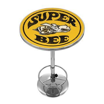 Trademark Gameroom Pub Tables Chrome Round Bar Table, Composite with Metal Base | DGE2000-BEE
