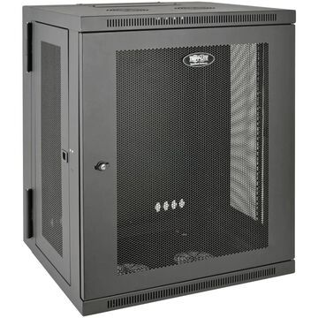 Tripp Lite SmartRack 15U Low-Profile Switch-Depth Wall-Mount Rack Enclosure Cabinet in Black   SRW15US