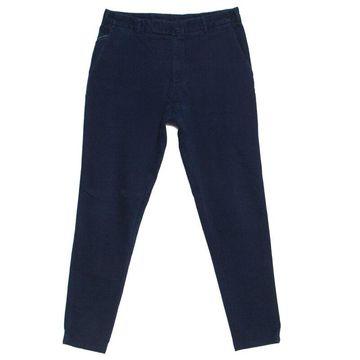 Loro Piana Navy Blue Stretch Twill Cotton Tailored Trousers M