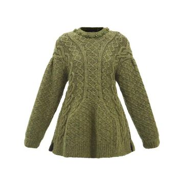 Simone Rocha - Balloon-sleeve Cable-knit Sweater - Womens - Khaki