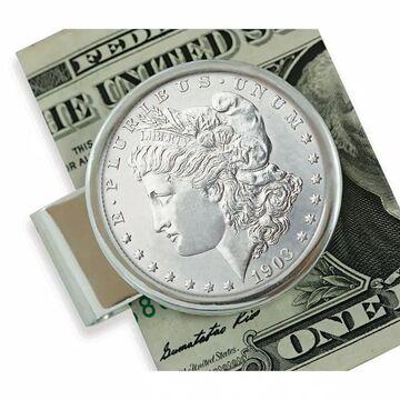 American Coin Treasures Sterling Silver Morgan Dollar Moneyclip (White)