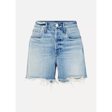 3x1 - Blake Distressed Denim Shorts - Mid denim