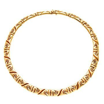 Bvlgari 18k Yellow Gold Saetta Estate Necklace (Pre-owned) (Necklace)