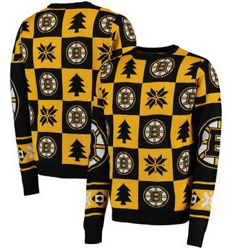 Boston Bruins Klew Patches Ugly Sweater - Black