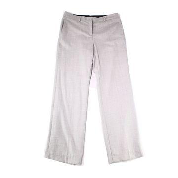 Pendleton Light Gray Womens Size 12 Flat-Front Dress Pants Wool
