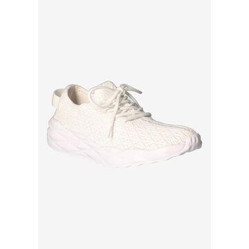 Women's Badrika Sneakers by J. Renee in White Knit (Size 12 M)