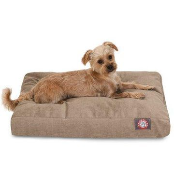 Majestic Pet Villa Rectangle Dog Bed Velvet Removable Cover Pearl Extra Large 50
