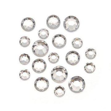 Darice Clear Round Rhinestones, 8mm to 11mm, 1 Pound Bag