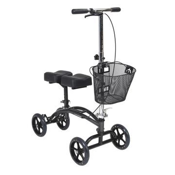 Drive Medical Dual Pad Steerable Knee Walker Knee Scooter with Basket, Alternative to Crutches | 796