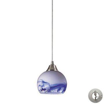 ELK Lighting Mela 1-Light Pendant Light in Satin Nickel