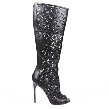 Paul Andrew \N Black Leather Boots