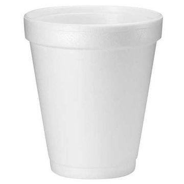 DART 8J8 Disposable Cold/Hot Cup 8 oz. White, Foam, Pk1000