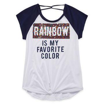Beautees Scoop Neck Short Sleeve Graphic T-Shirt - Big Kid Girls
