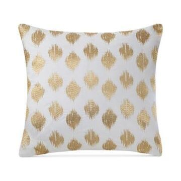 """Ink+Ivy Nadia Embroidered Dot 18"""" Square Decorative Pillow Bedding"""