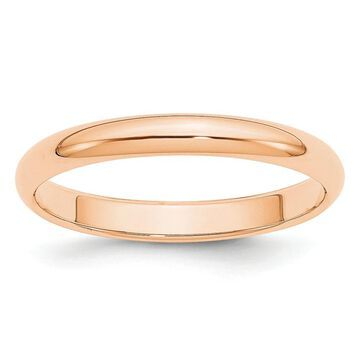 10K Rose Gold 3mm High Polished Half Round Band Size 10 by Versil