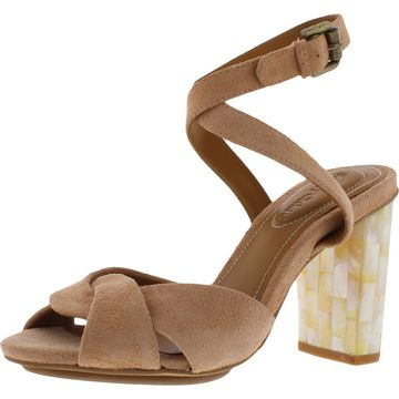 See by Chloe Womens Suede Criss Cross Heel Sandals