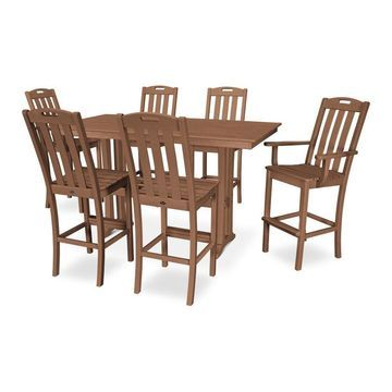 Trex Outdoor Furniture Yacht Club 7-Piece Brown Frame Dining Patio Dining Set with Dining