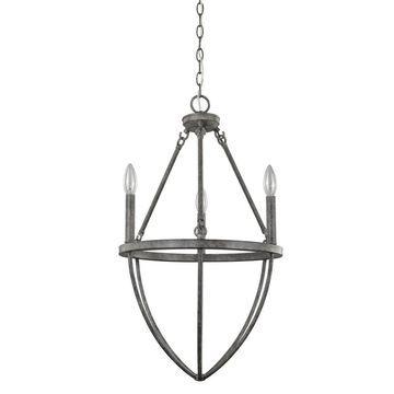 Acclaim Lighting Harlow 3-Light Chandelier with Ash Finish (Grey)