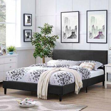 Modway Anya Full Upholstered Platform Bed in Black