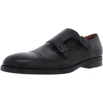 Bruno Magli Mens Barone Leather Cap Toe Monk Shoes - 9.5 D US Mens