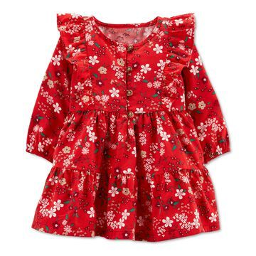 Carter's Baby Girls Floral Twill Dress