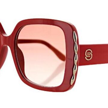 Elie Saab 015/S 0C9A/30 Womenas Sunglasses Red Size 54