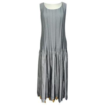Issey Miyake Silver Polyester Dresses