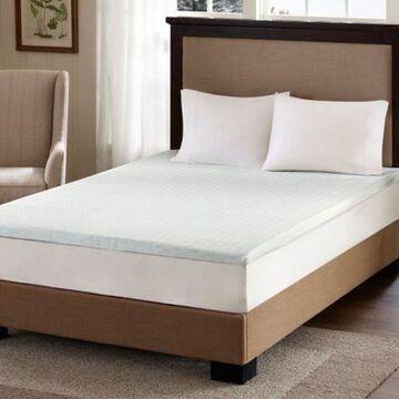 Sleep Philosophy Flexapedic 2-Inch Gel Memory Foam Full Mattress Topper in White