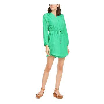 MAISON JULES Green Long Sleeve Short Dress XL