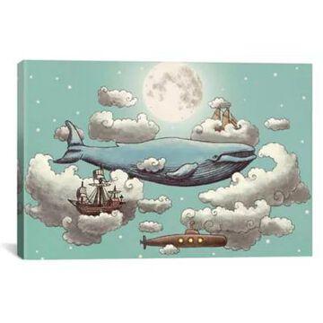 iCanvas Ocean Meets Sky ll 12-Inch x 18-Inch Canvas Wall Art
