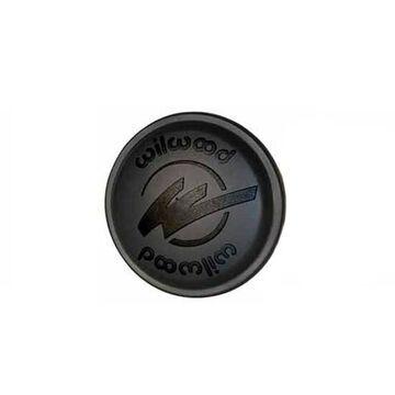 Wheel Hub Dust Cap - Starlite 55 - 3 x 2.00 in Bolt Pattern - O-Ring Included - Wilwood Logo - Plastic - Black - Each