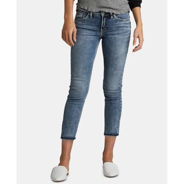 Elyse Relaxed-Curvy-Fit Slim-Leg Cropped Jeans