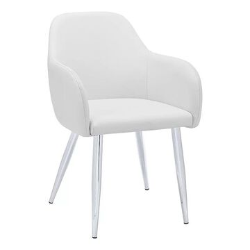 Monarch Upholstered Dining Chair 2-piece Set, White