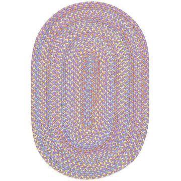 PT15R024X048 2 x 4 in. Playtime Violet & Multicolor Oval Rug