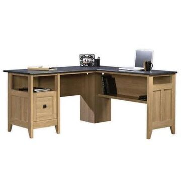 Sauder Select August Hill L-Shaped Office Desk in Oak