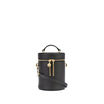 Belay cylindrical leather bag