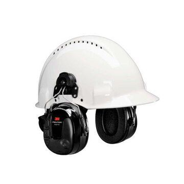 3M PELTOR ProTac III Headset, Black, Hard Hat Attached