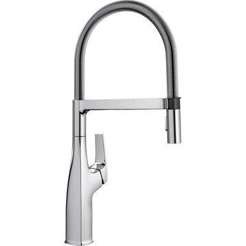 BLANCO Rivana Polished Chrome 1-Handle Deck-Mount High-Arc Handle Kitchen Faucet   442675