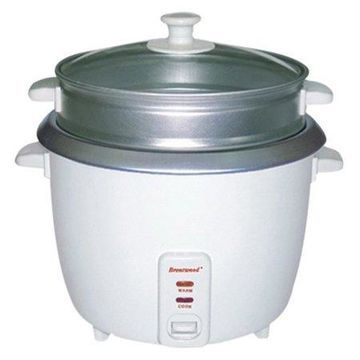 Brentwood TS-380S 10-Cup Uncooked/20-Cup Cooked Rice Cooker and Food Steamer, White