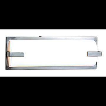 Access Lighting 31031 Sequoia 1 Light Bath Bar Brushed Steel / Acrylic Indoor Lighting Bathroom Fixtures Bath Bar