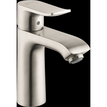 Hansgrohe Metris Single-Hole Faucet 110 with Pop-Up Drain, 1.2 GPM in Brushed Nickel