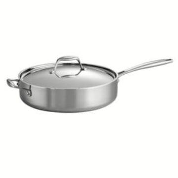 Tramontina Gourmet Tri-Ply Clad 3 Quart Covered Deep Saute Pan