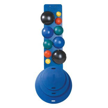 "CanDo MVP Balance System, 10-Ball Set with Rack, 16, 20, 30"" Diameter Boards, (2 each Yellow through Black)"