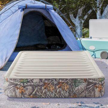 """Realtree EDGE Outdoor Sport Air 13"""" Pillow Top Queen Air Mattress Bed"""